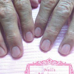 85歳男性・クリアジェル・健康そうな爪に仕上がりました。